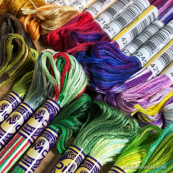 Variegated threads for hand embroidery - DMC Variations & Other Variegated Threads