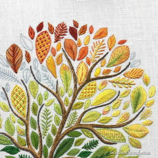 Embroidered Tree with Large Leaves- Troubleshooting