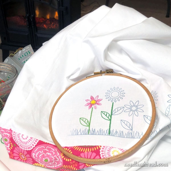 Springy Stitching: Flower Line Embroidery