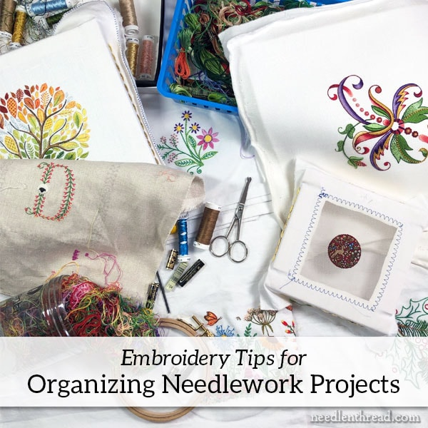 Organizing Embroidery Projects
