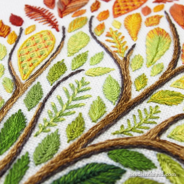Leafy Tree Embroidery