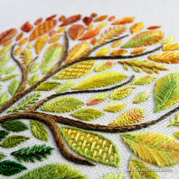 The Leafy Tree Embroidery