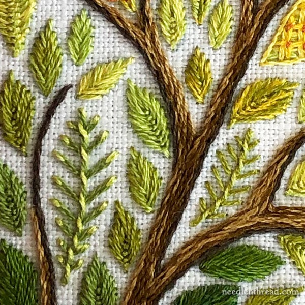 Size Perspective on Embroidered Tree