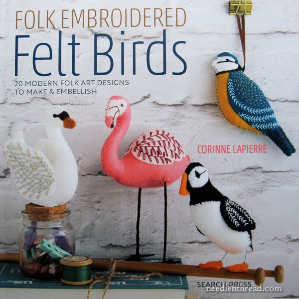 Folk Embroidered Felt Birds by Corinne Lapierre - book review