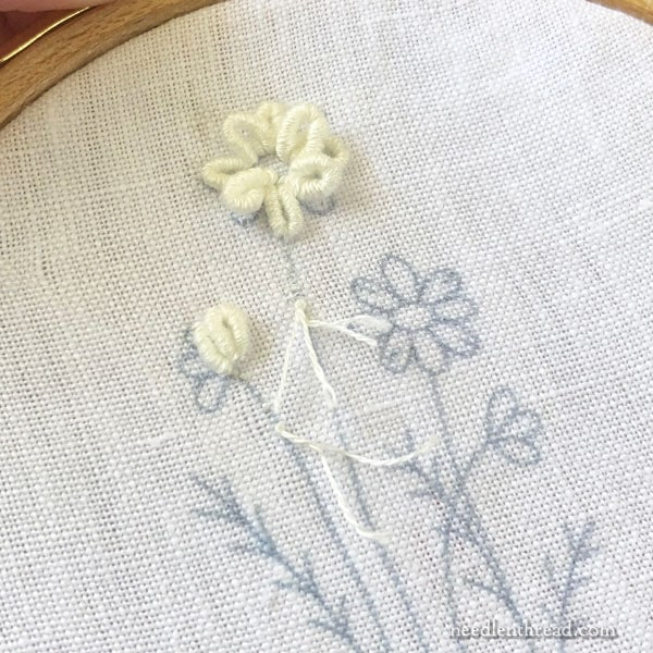 Embroidered Flowers on Linen from In a Wheat Field by Elisabetta Sforza