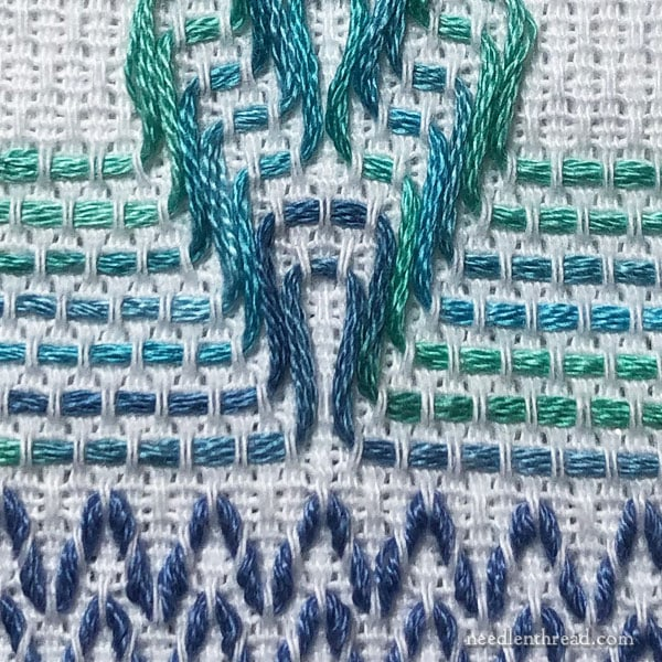 Swedish or Huck Weaving on a Towel