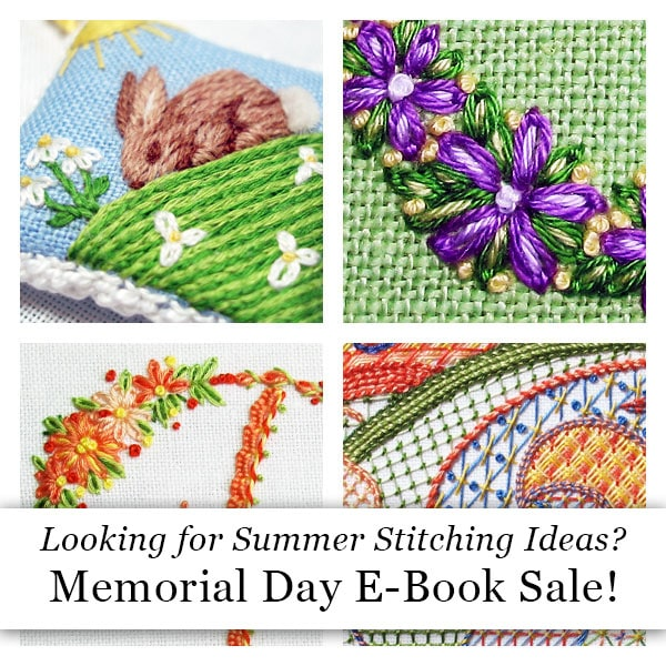 Memorial Day Embroidery E-Book Sale