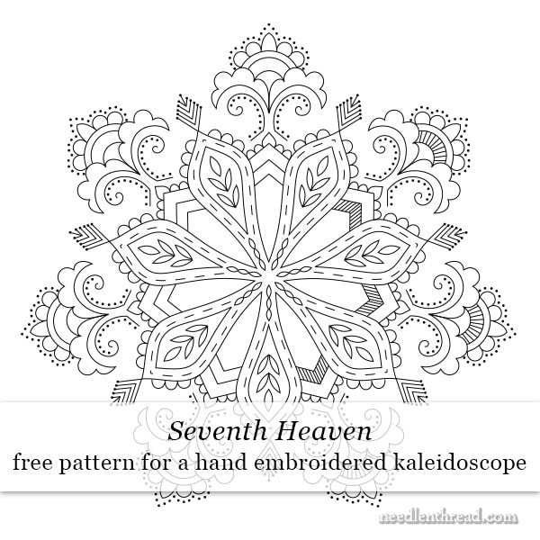 Free Hand Embroidered Kaleidoscope Design: Seventh Heaven