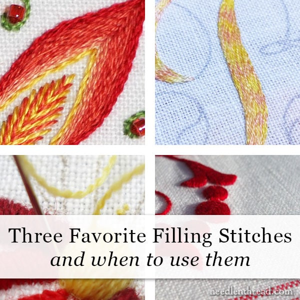 Three Favorite Filling Stitches & When to Use Them