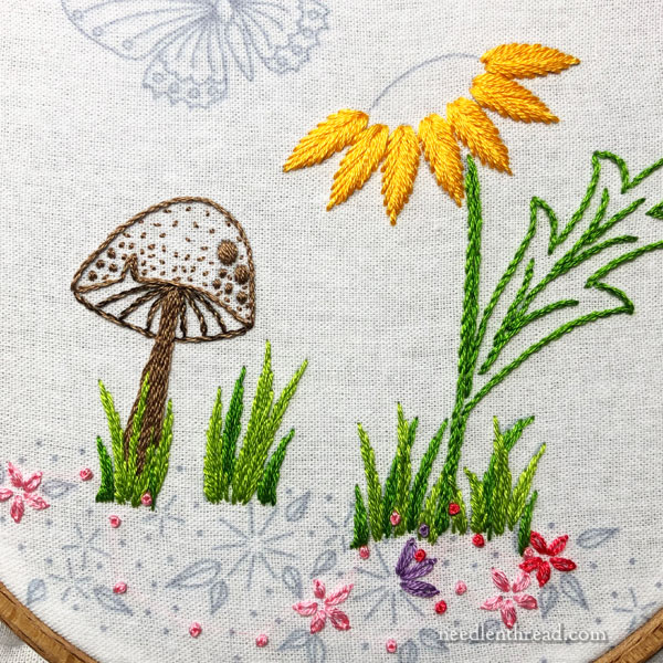 Sunflower & Toadstool: Embroidery Project