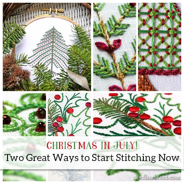Christmas in July for Hand Embroidery