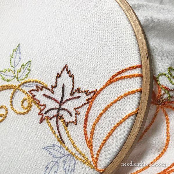 Pumpkins & Leaves: Autumn Embroidery