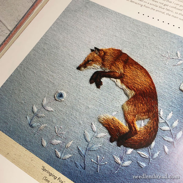 The Embroidered Art of Chloe Giordano - leaping fox