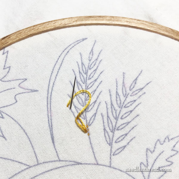 How to Embroider Wheat - a simple approach