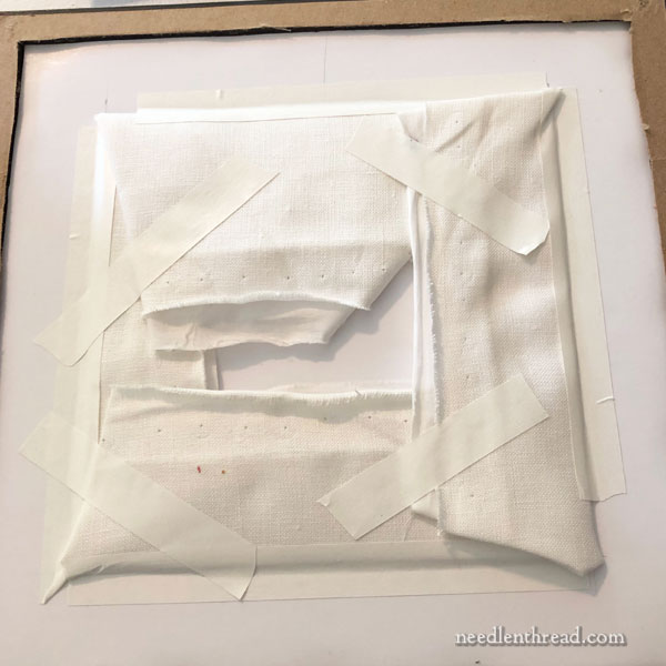 Reframing embroidery project: disassembly & preparation