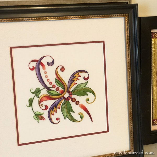 Reframing Embroidery - from botched to better