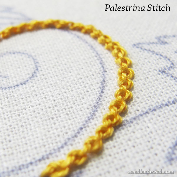 Stabbing the Coral Stitch for embroidery with a hoop