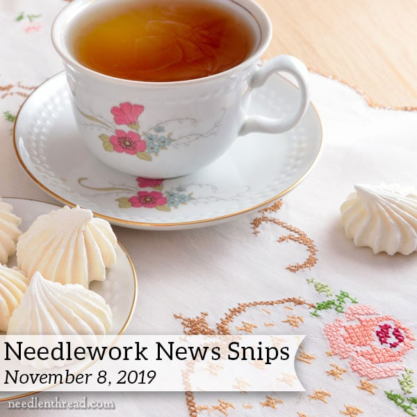 Needlework News Snips November 8, 2019