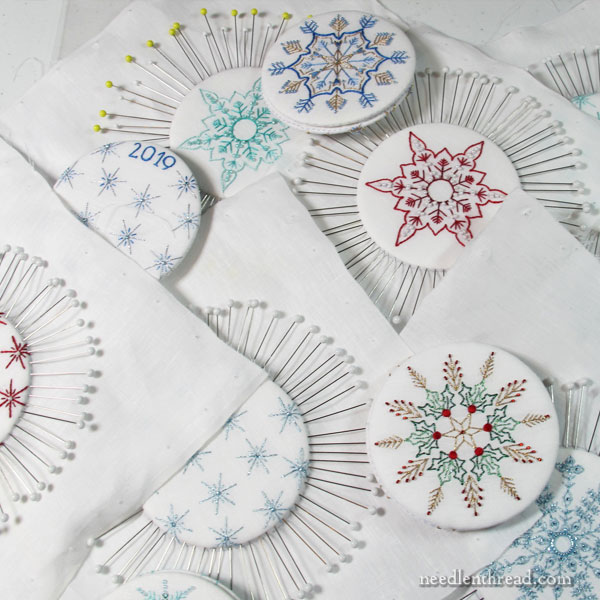 Finishing embroidery into ornaments - tools