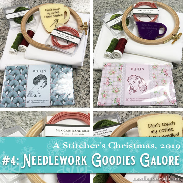 Stitcher's Christmas 2019: Needle in a Haystack embroidery goodies