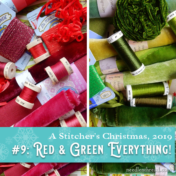 Red & Green embroidery supplies from French Needle