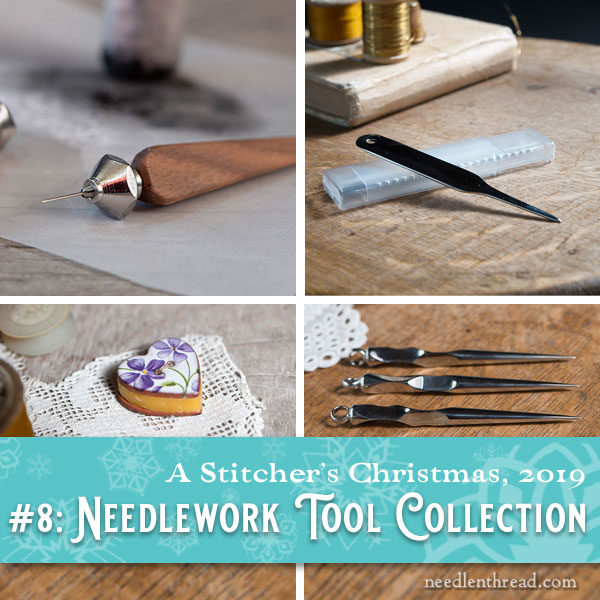 Jenny Adin-Christie needlework tools for a Stitcher's Christmas