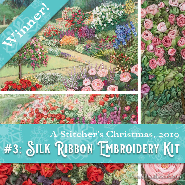 Silk Ribbon embroidery kit winner Stitcher's Christmas 2019