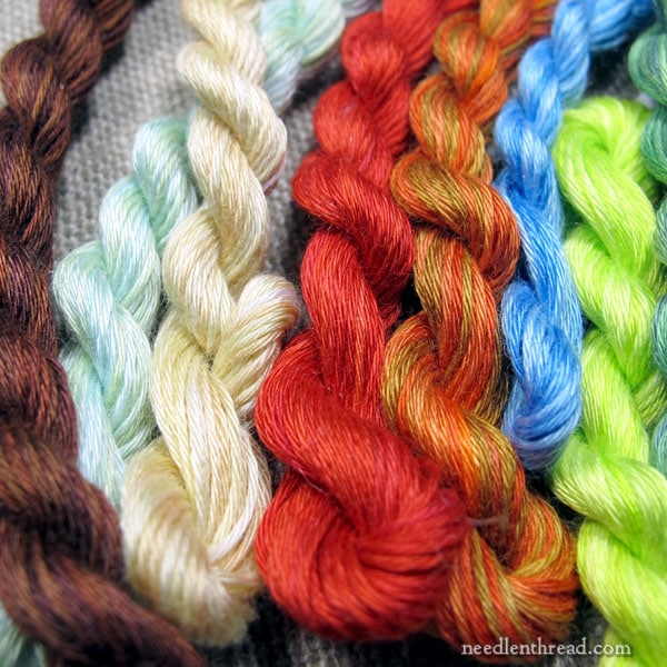 Overdyed floche hand embroidery thread