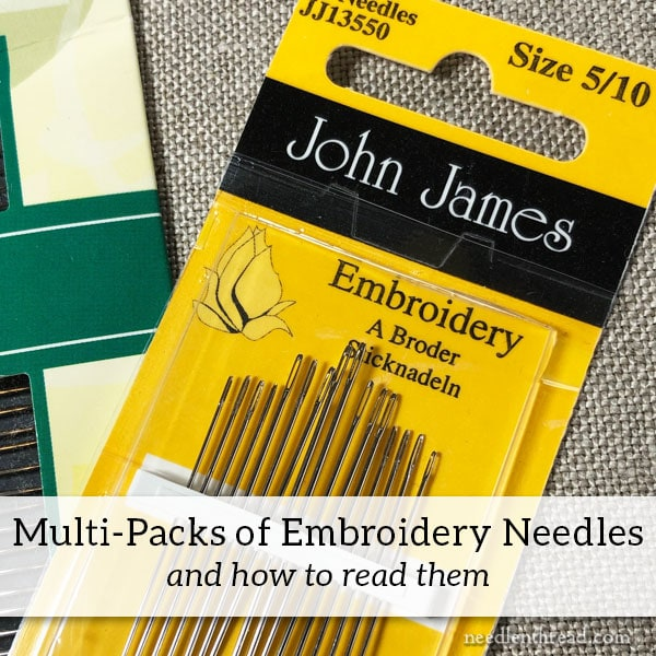 Embroidery Needle Multi-Packs