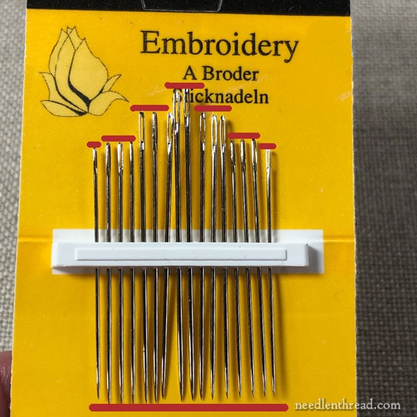 John James multi-pack of embroidery needles