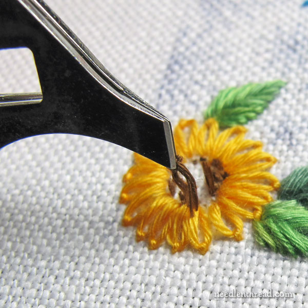 Pinzette tweezers for hand embroidery