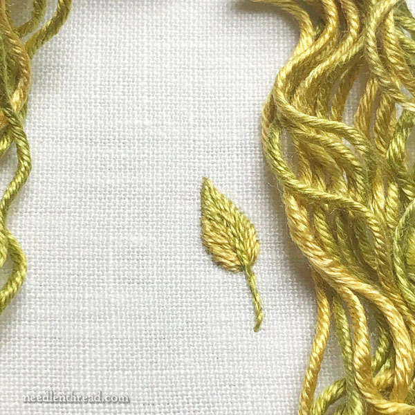 Chameleon Threads: Overdyed silk embroidery thread