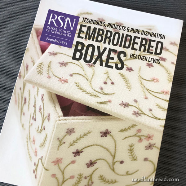 RSN Embroidered Boxes by Heather Lewis