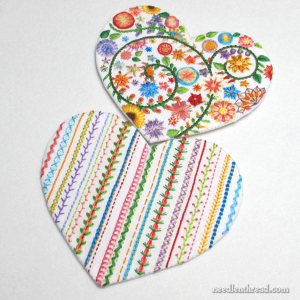 Floral Heart Embroidery - finishing