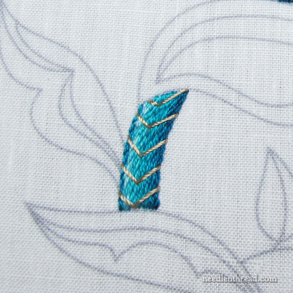 Jacobean Sea Embroidery Project: Troubleshooting the Stem