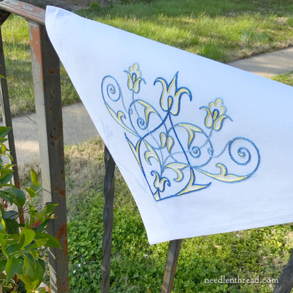 Scroll Corner Design for Hand Embroidery