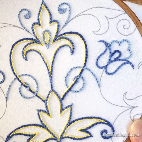 Embroidered Scroll Designs: Stitches, Colors, and Tips
