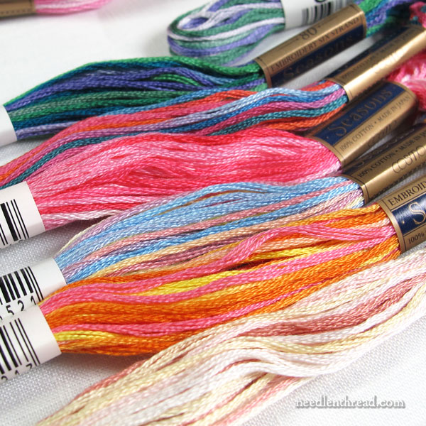 Cosmo embroidery floss - variegated Seasons