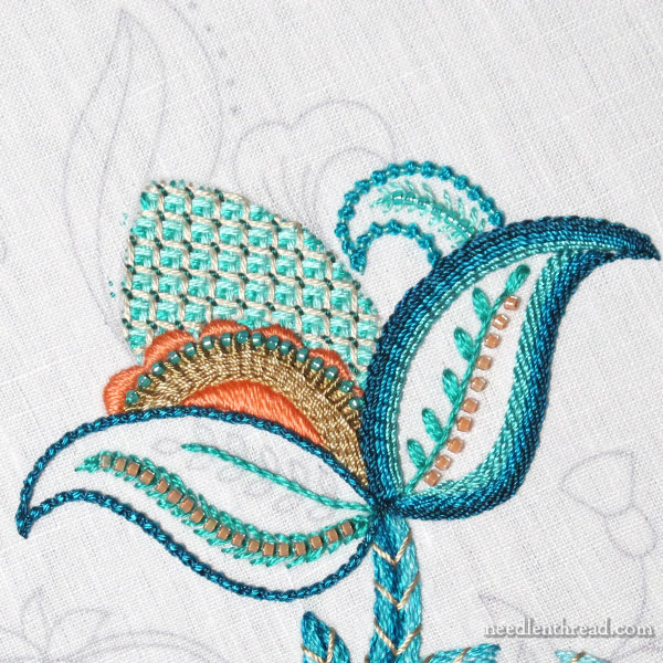 Jacobean embroidery design - project progress