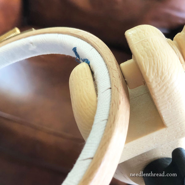 Nurge floor stand for embroidery hoops - review