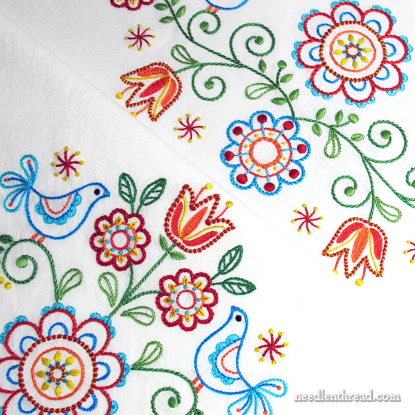 Tulips & Tweets Folk-Inspired Embroidery Designs