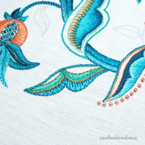 Jacobean Sea Embroidery Project