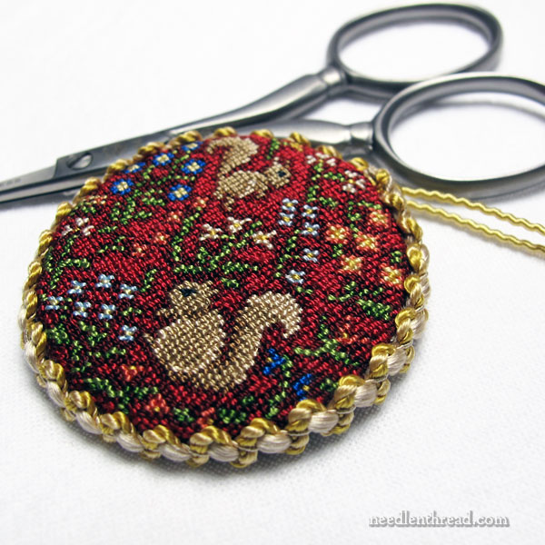 A Thousand Flowers miniature petit point silk gauze