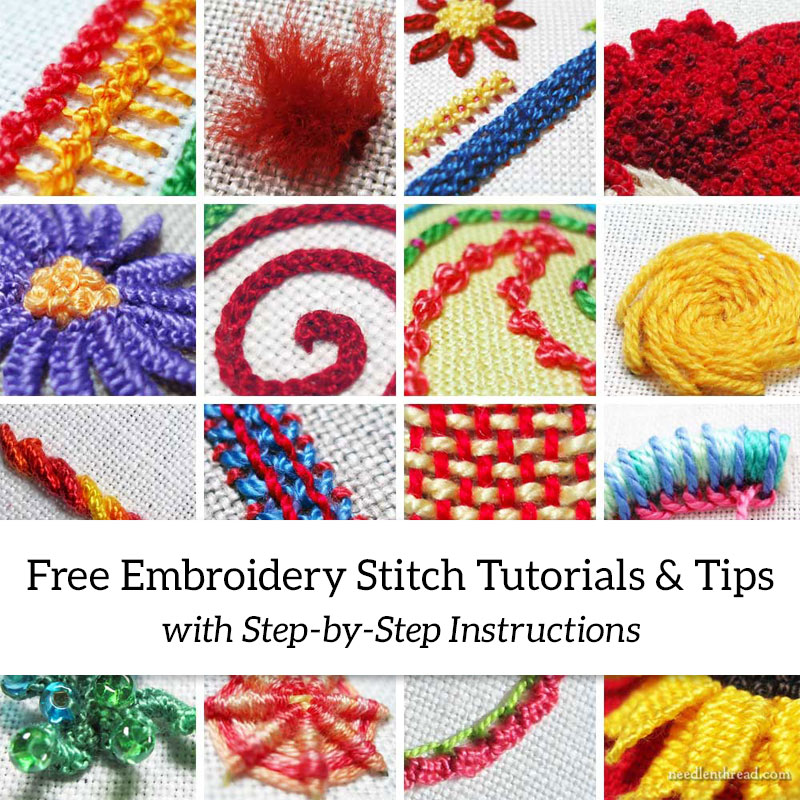 Free Embroidery Stitch Tutorials & Tips