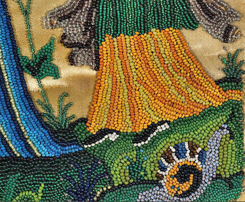 17th century bead embroidery auction