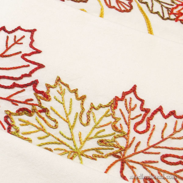 Autumn Variety ready to stitch towel set