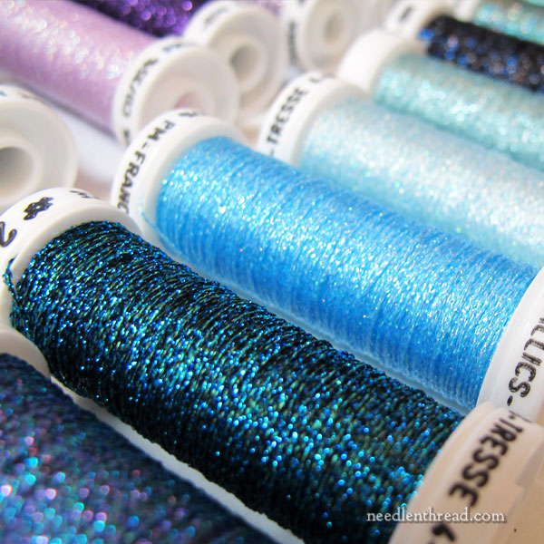 Au Ver a Soie metallic threads for embroidery