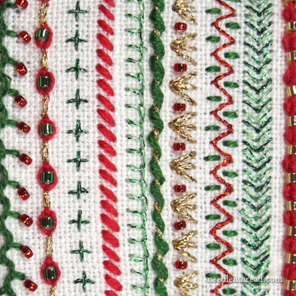 Embroidery with beads - what threads to use