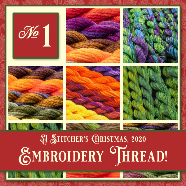 A Stitcher's Christmas 2020, 1: embroidery thread from Colour Complements