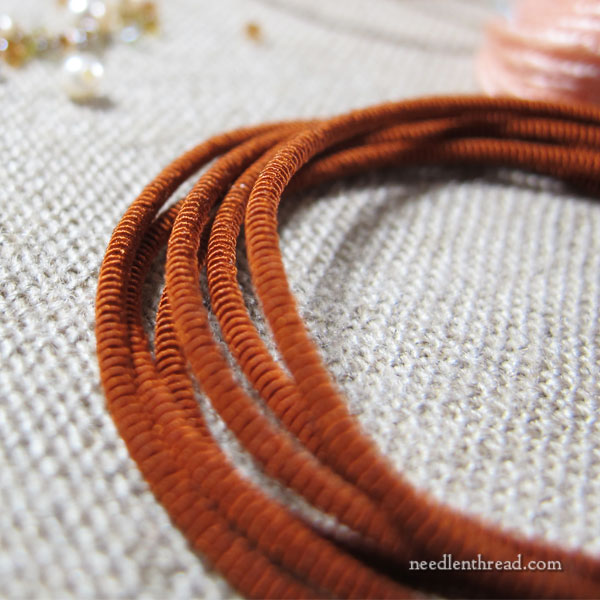 A Sea to Stitch Monogram in Silk, Beads, & Specialty Threads